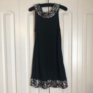 Sparkling detailed little black dress